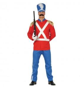 Disfraz de Soldadito de Plomo Rojo para hombre