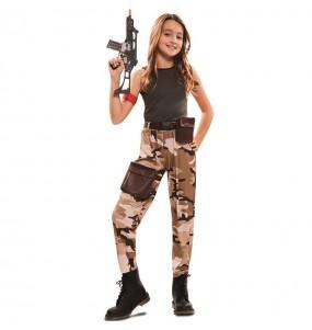 Disfraz de Soldado Fuerzas Especiales para niña