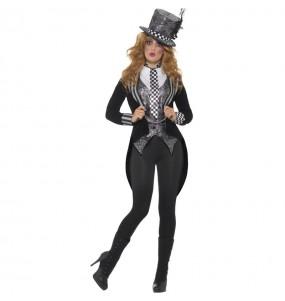 Disfraz de Sombrerera loca tenebrosa para mujer