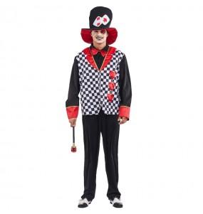 Disfraz de Sombrerero Corazones adulto