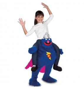 Disfraz de Supercoco a hombros Barrio Sésamo para niños