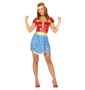 Disfraz de Superhéroe Wonder Woman para mujer
