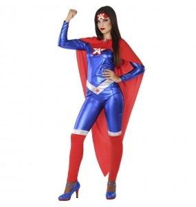 Disfraz de Superheroína América para mujer