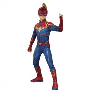 Disfraz de Superheroína Capitana Marvel para niña