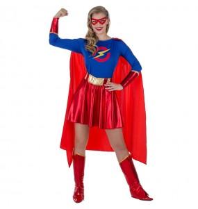 Disfraz de Superheroína Clásica para mujer