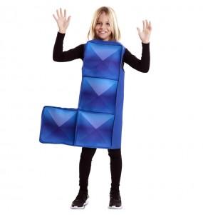 Disfraz de Tetris Azul Oscuro para niños