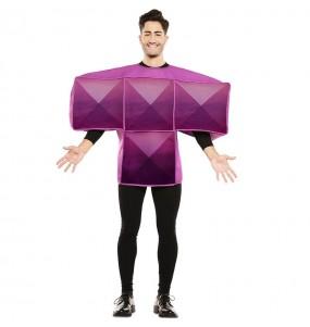 Disfraz de Tetris Morado para hombre