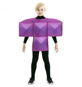 Disfraz de Tetris Morado para niños