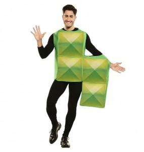Disfraz de Tetris Verde para hombre
