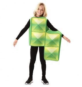 Disfraz de Tetris Verde para niños