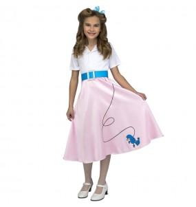 Disfraz de The Pink Ladies Rosa para niña