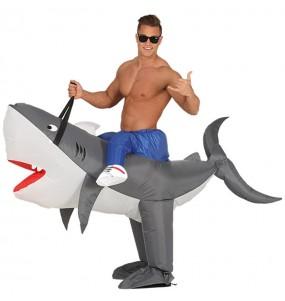 Disfraz de Tiburón a hombros Hinchable