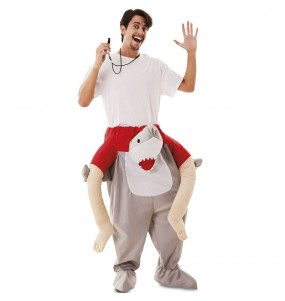Disfraz de Tiburón a hombros para adulto