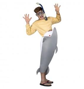 Disfraz de Tiburón Hambriento para adulto