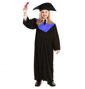 Disfraz de Toga Graduación para niña