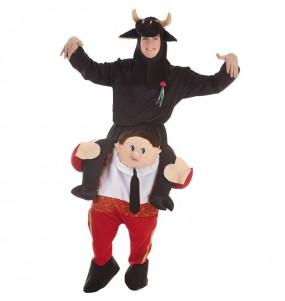 Disfraz de Torero con toro a hombros para adulto