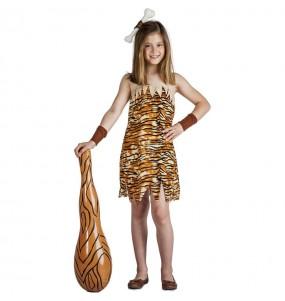 Disfraz de Troglodita salvaje para niña