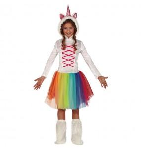 Disfraz de Unicornio Multicolor para niña