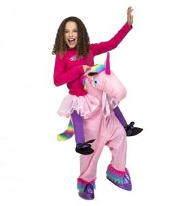 Disfraz de Unicornio Rosa a hombros para niños