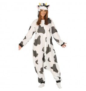 Disfraz de Vaca Kigurumi para mujer