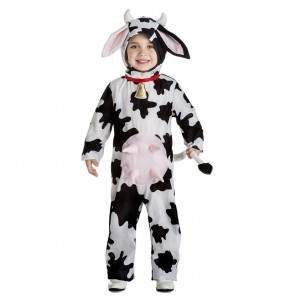 Disfraz de Vaca lechera para niño