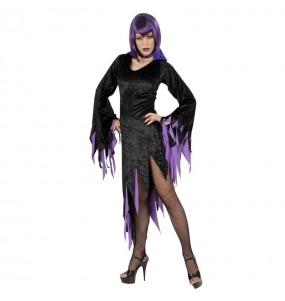 Disfraz de Vampiresa Dark Morado para Mujer