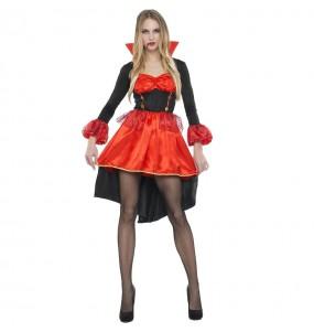 Disfraz de Vampiresa Naranja mujer