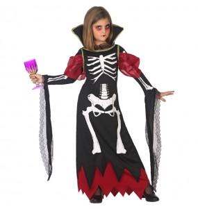 Disfraz de Vampiresa Esqueleto para niña