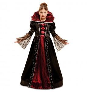Disfraz de Vampiresa Villana para niña