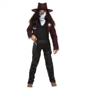 Disfraz de Vaquera zombie para niña