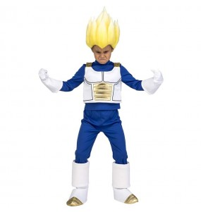 Disfraz de Vegeta Super Saiyan para niño Dragon Ball