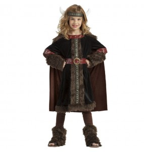 Disfraz de Vikinga Black para niña