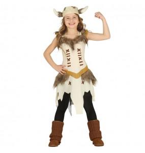Disfraz de Vikinga Escandinava para niña