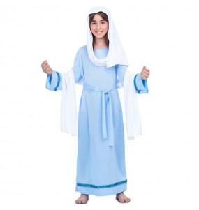 Disfraz de Virgen Maria Azul para niña