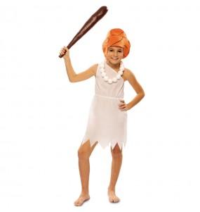 Disfraz de Wilma Picapiedra para niña