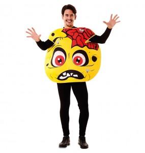Disfraz de Zombie Emoticono para adulto