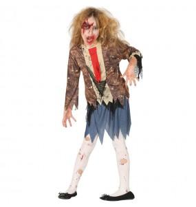 Disfraz de Zombie Maldito para niña