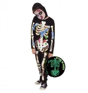 Disfraz de Zombie Skeleton para niño