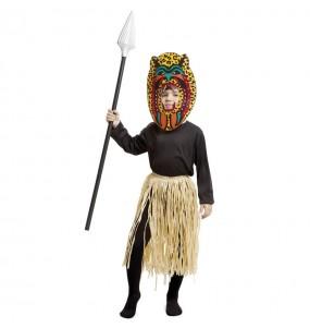 Disfraz de Zulú Caníbal para niño