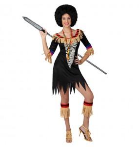 Disfraz de Zulú para mujer