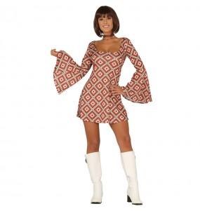 Disfraz de Disco años 70 para mujer