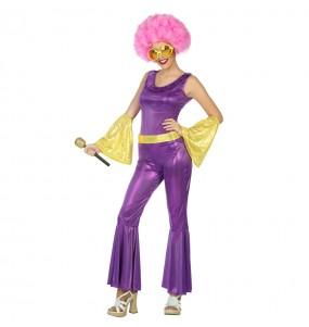 Disfraz Disco Morado para mujer