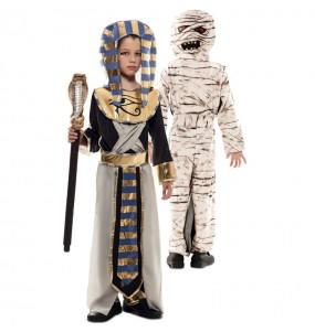 Disfraz Doble de Egipcio y Momia para niños