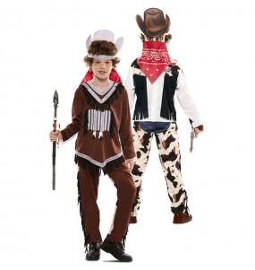 Disfraz Doble de Indio y Vaquero para niños