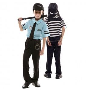 Disfraz doble de Policía y Ladrón para niños