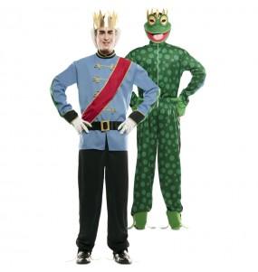 Disfraz Doble de Príncipe y Rana adulto