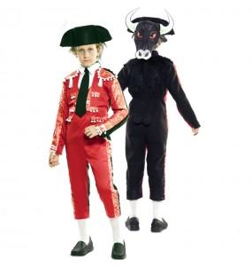Disfraz Doble de Torero y Toro para niños