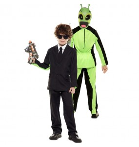 Disfraz Doble de Men in Black y Alíen para niños
