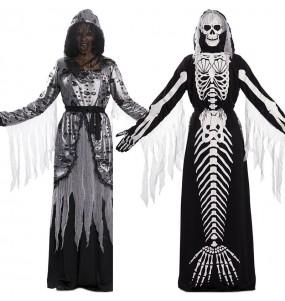 Disfraz doble de Muerte y Sirena Esqueleto mujer