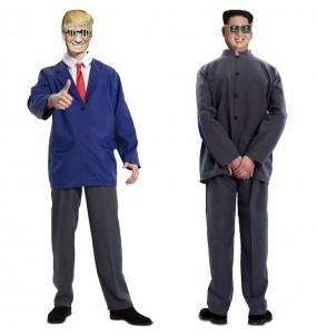Disfraz doble de Donald Trump y Kim Jong-un adulto